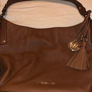 Micheal Kors hobo bag tassel mk brown luggage